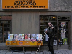 The Micke-is outside his building!